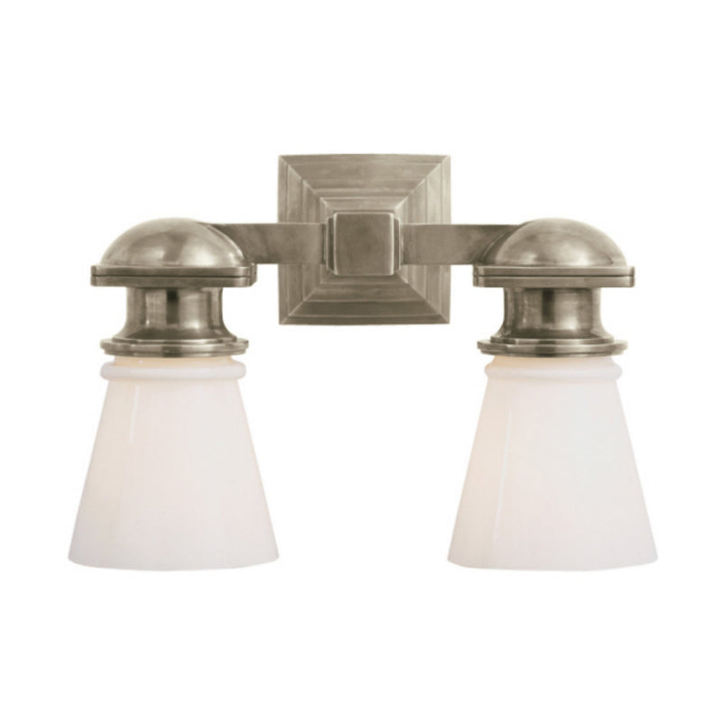 Visual Comfort SL 2152AN-WG Chapman & Myers New York Subway Double Light in Antique Nickel