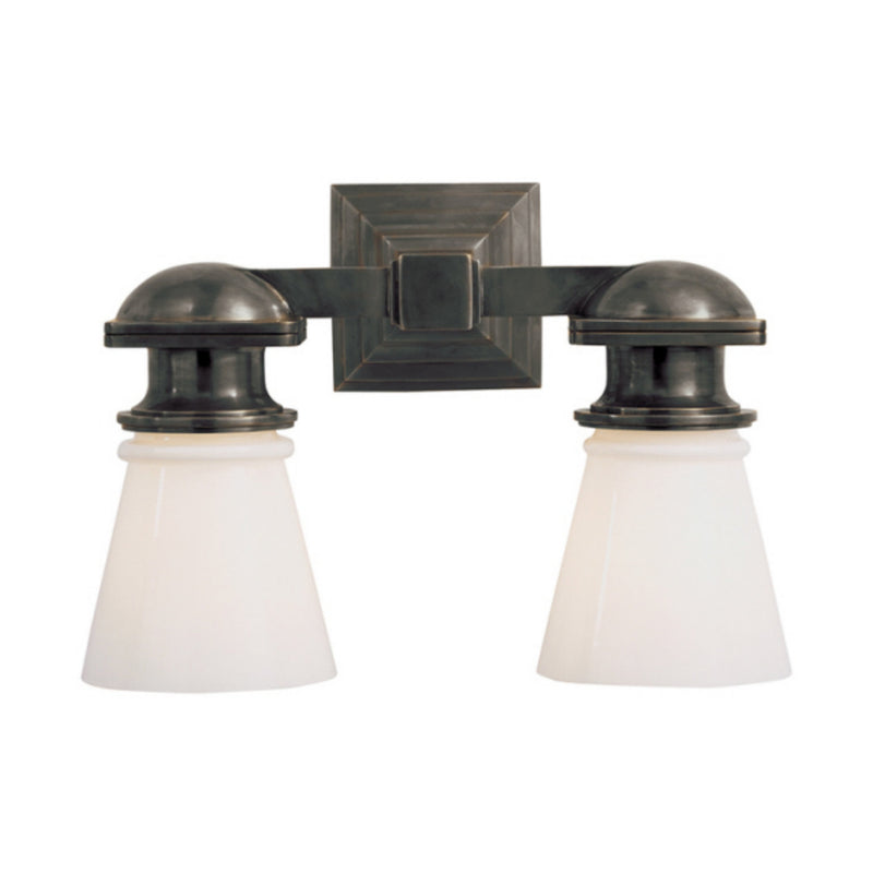 Visual Comfort SL 2152BZ-WG Chapman & Myers New York Subway Double Light in Bronze