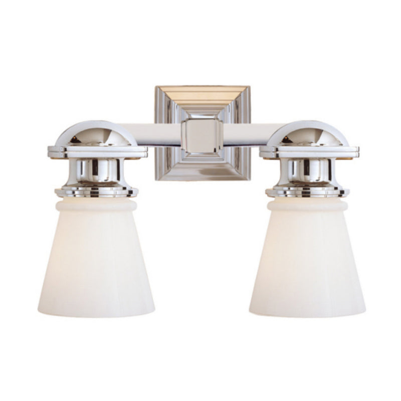 Visual Comfort SL 2152CH-WG Chapman & Myers New York Subway Double Light in Chrome