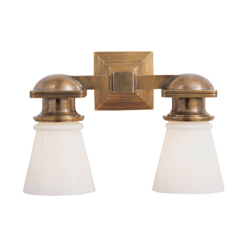 Visual Comfort SL 2152HAB-WG Chapman & Myers New York Subway Double Light in Hand-Rubbed Antique Brass