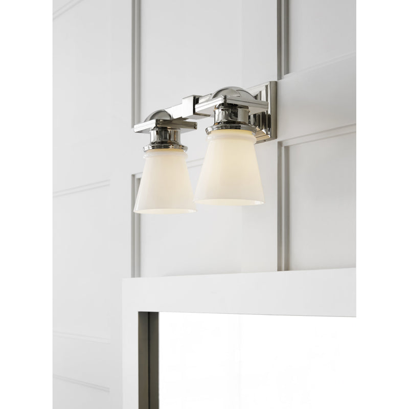 Visual Comfort SL 2152PN-WG Chapman & Myers New York Subway Double Light in Polished Nickel
