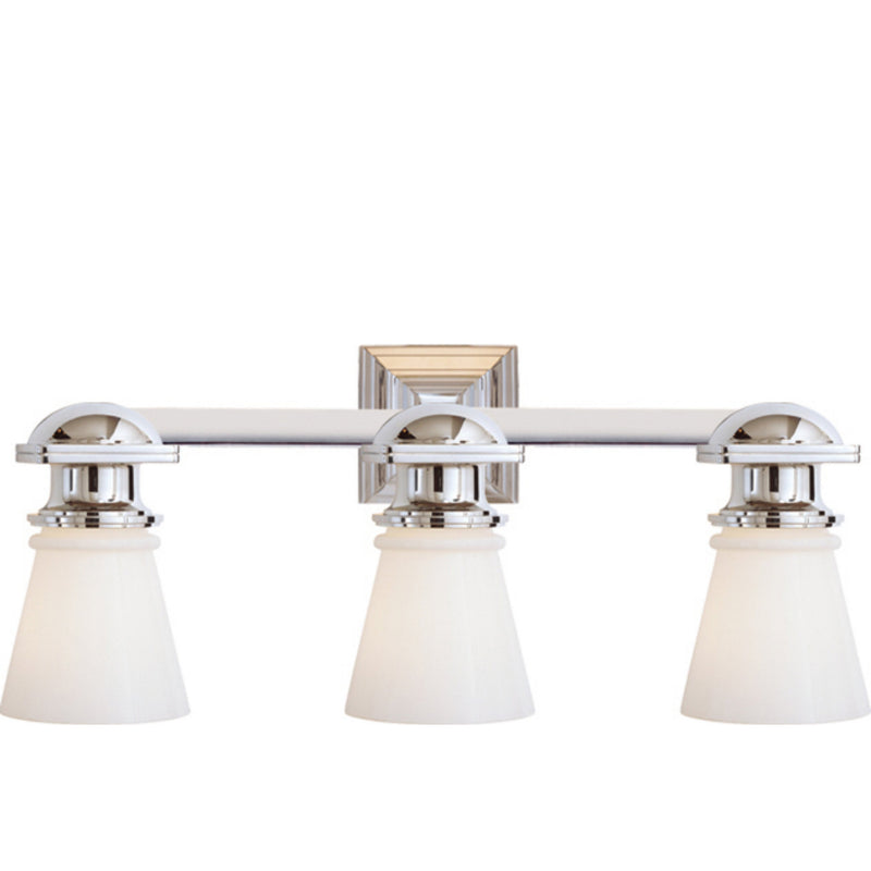 Visual Comfort SL 2153CH-WG Chapman & Myers New York Subway Triple Light in Chrome