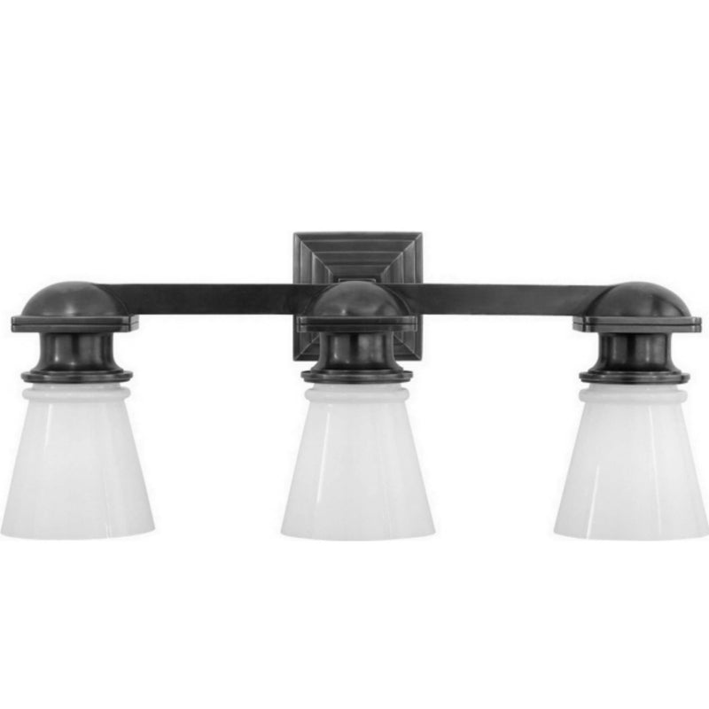 Visual Comfort SL 2153PN-WG Chapman & Myers New York Subway Triple Light in Polished Nickel