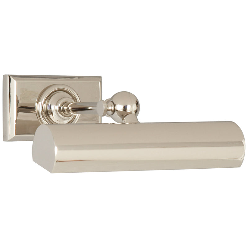 "Visual Comfort SL 2704PN Chapman & Myers 8"" Cabinet Maker's Picture Light in Polished Nickel"