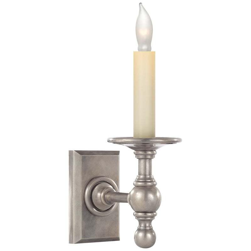 Visual Comfort SL 2813AN Chapman & Myers Single Library Classic Sconce in Antique Nickel