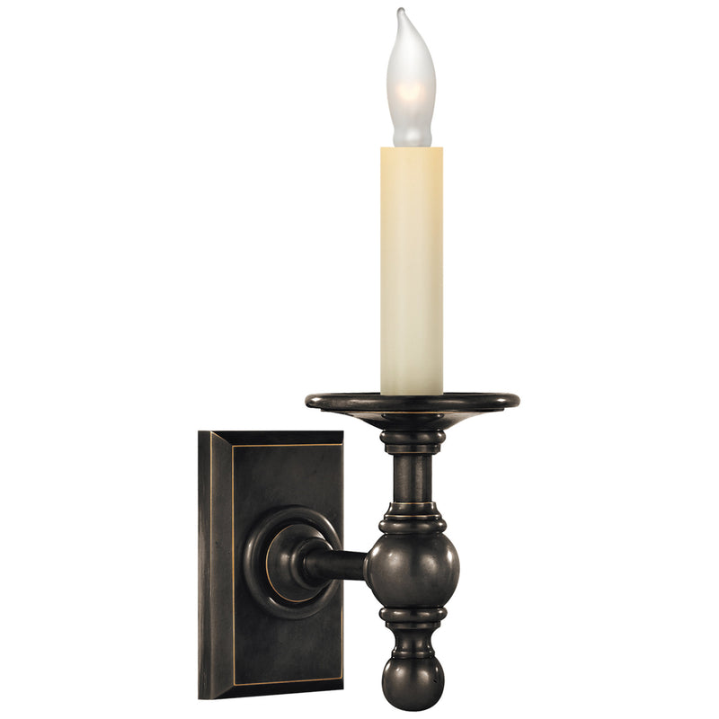 Visual Comfort SL 2813BZ Chapman & Myers Single Library Classic Sconce in Bronze