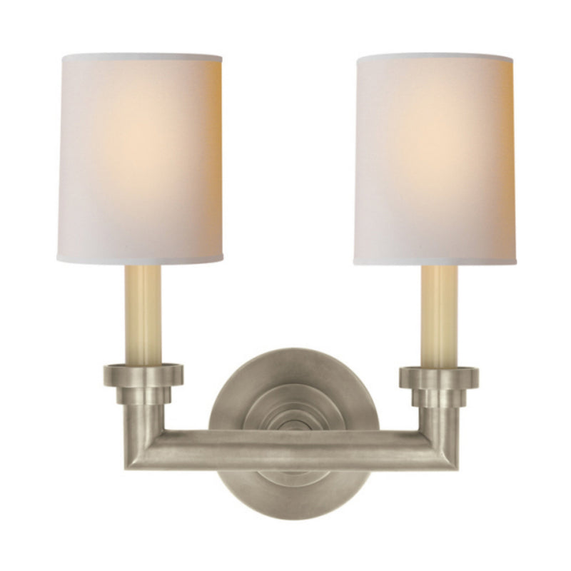 Visual Comfort SL 2846AN-NP Chapman & Myers Wilton Double Sconce in Antique Nickel