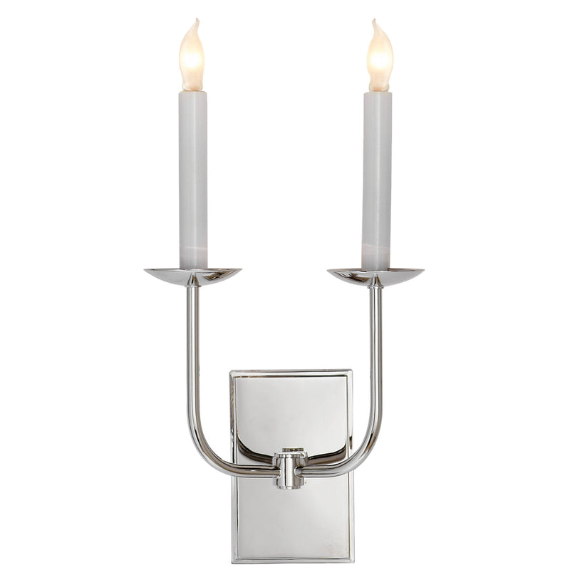 Visual Comfort SL 2861PN Chapman & Myers TT Double Sconce in Polished Nickel