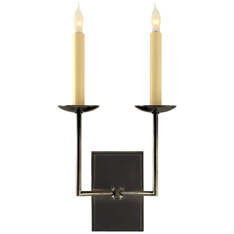 Visual Comfort SL 2866BZ Chapman & Myers Right Angle Double Sconce in Bronze