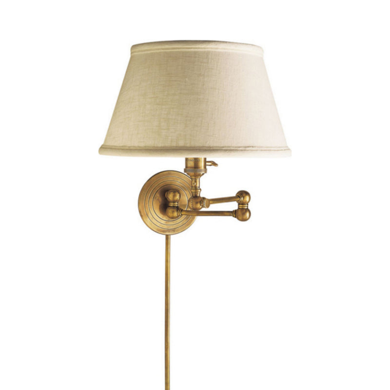 Visual Comfort SL 2920HAB-L Chapman & Myers Boston Swing Arm in Hand-Rubbed Antique Brass