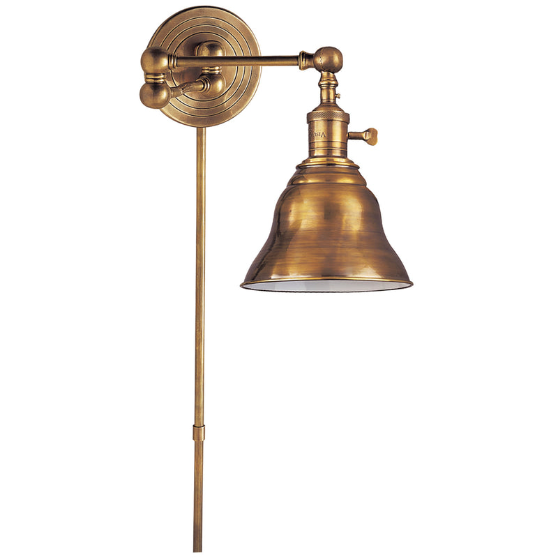 Visual Comfort SL 2920HAB/SLE-HAB Chapman & Myers Boston Swing Arm in Hand-Rubbed Antique Brass