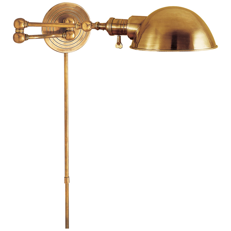 Visual Comfort SL 2920HAB/SLG-HAB Chapman & Myers Boston Swing Arm in Hand-Rubbed Antique Brass