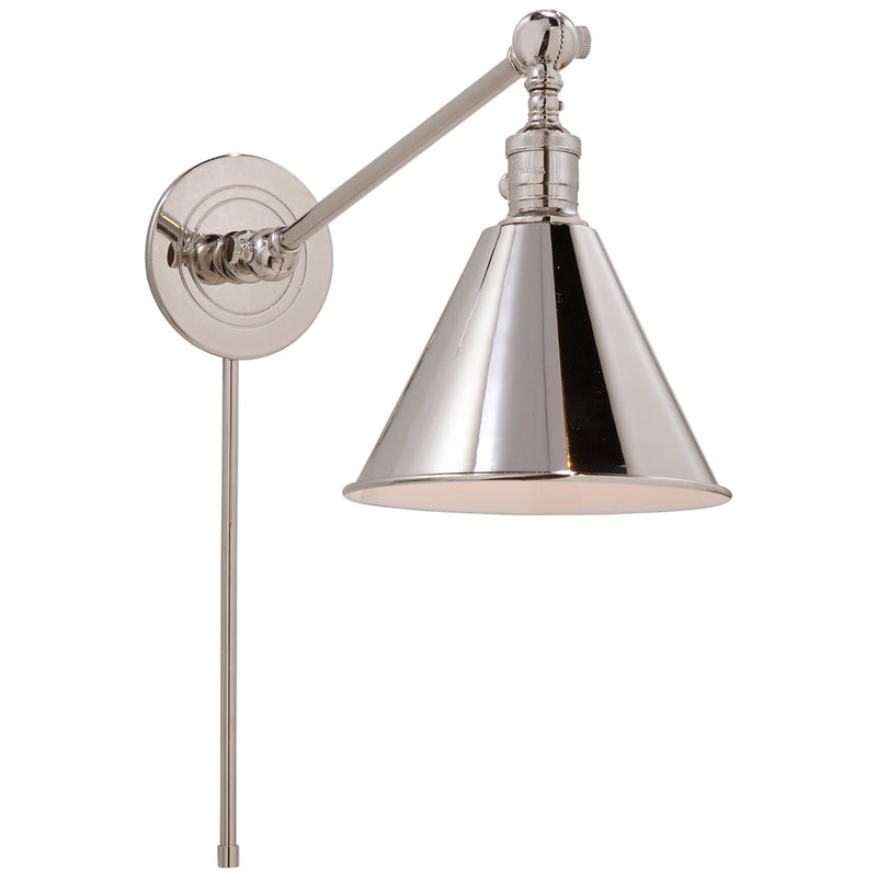 Visual Comfort SL 2922PN Chapman & Myers Boston Functional Single Arm Library Light in Polished Nickel