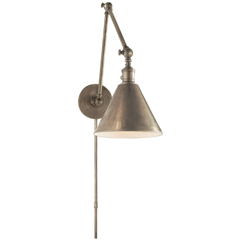 Visual Comfort SL 2923AN Chapman & Myers Boston Functional Double Arm Library Light in Antique Nickel