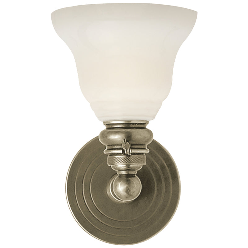 Visual Comfort SL 2931AN/SLEG-WG Chapman & Myers Boston Functional Single Light in Antique Nickel