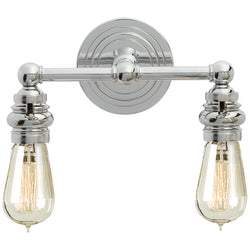 Visual Comfort SL 2932CH Chapman & Myers Boston Functional Double Light in Chrome