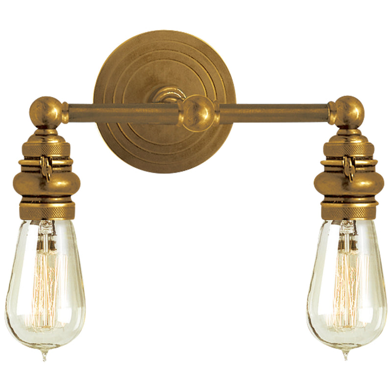 Visual Comfort SL 2932HAB Chapman & Myers Boston Functional Double Light in Hand-Rubbed Antique Brass