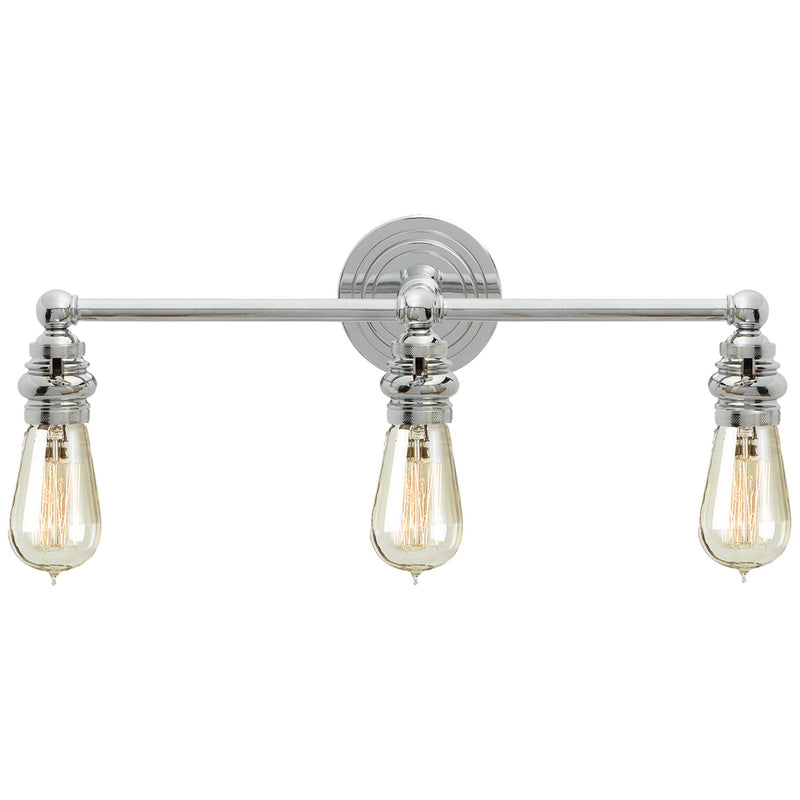 Visual Comfort SL 2933PN Chapman & Myers Boston Functional Triple Light in Polished Nickel