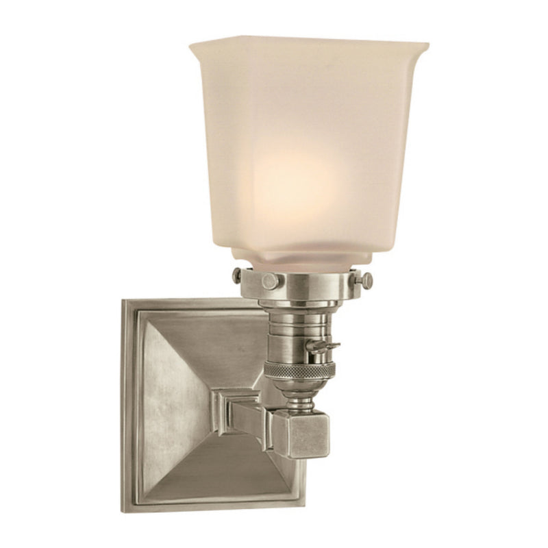 Visual Comfort SL 2941AN-FG Chapman & Myers Boston Square Single Light in Antique Nickel