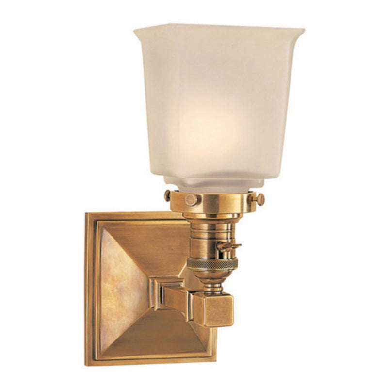Visual Comfort SL 2941HAB-FG Chapman & Myers Boston Square Single Light in Hand-Rubbed Antique Brass