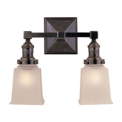 Visual Comfort SL 2942BZ-FG Chapman & Myers Boston Square Double Light in Bronze