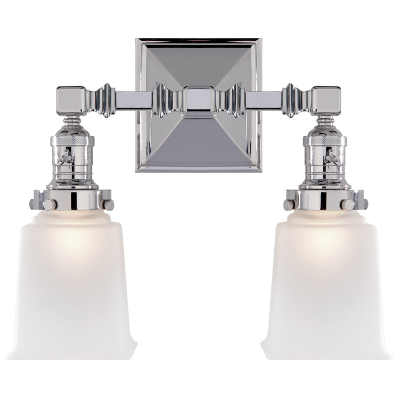 Visual Comfort SL 2942CH-FG Chapman & Myers Boston Square Double Light in Chrome
