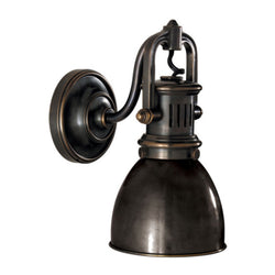Visual Comfort SL 2975BZ-BZ Chapman & Myers Yoke Suspended Sconce in Bronze
