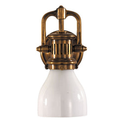 Visual Comfort SL 2975HAB-WG Chapman & Myers Yoke Suspended Sconce in Hand-Rubbed Antique Brass