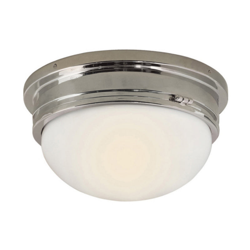 Visual Comfort SL 4002CH-WG Chapman & Myers Marine Large Flush Mount in Chrome