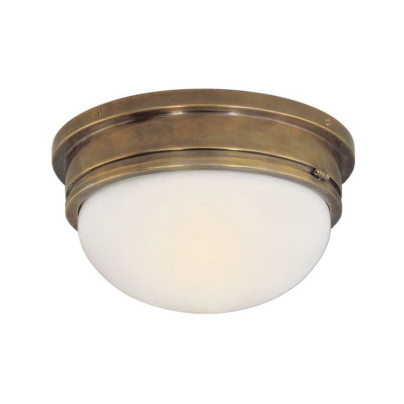 Visual Comfort SL 4002HAB-WG Chapman & Myers Marine Large Flush Mount in Hand-Rubbed Antique Brass