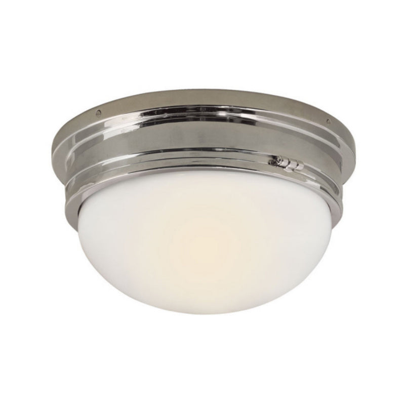 Visual Comfort SL 4002PN-WG Chapman & Myers Marine Large Flush Mount in Polished Nickel