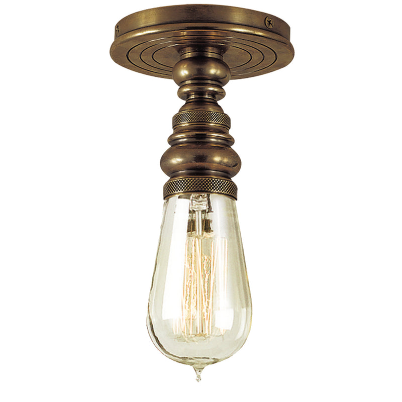 Visual Comfort SL 5001HAB Chapman & Myers Boston Single Flush Mount in Hand-Rubbed Antique Brass