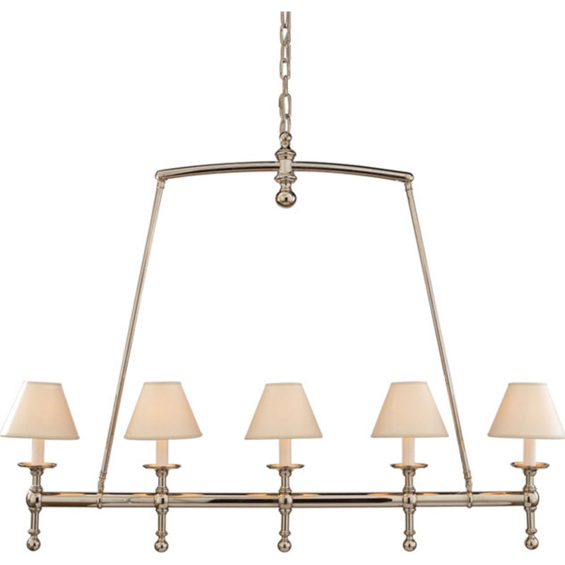 Visual Comfort SL 5811PN-NP Chapman & Myers Classic Linear Chandelier in Polished Nickel