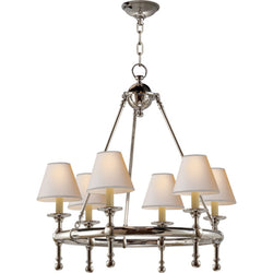 Visual Comfort SL 5814PN-NP Chapman & Myers Classic Mini Ring Chandelier in Polished Nickel
