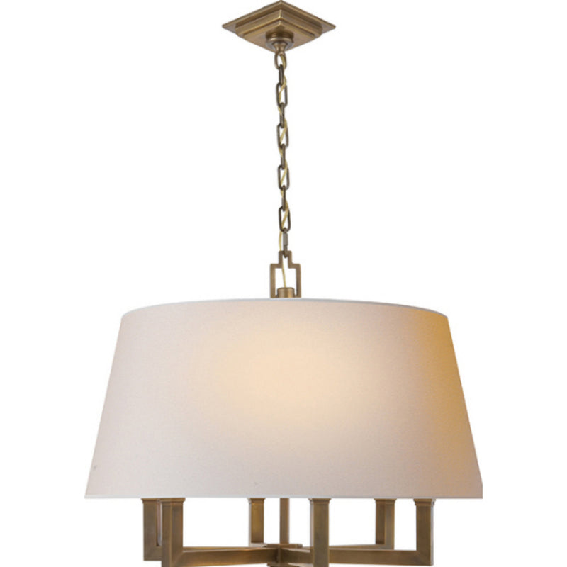 Visual Comfort SL 5820HAB-NP Chapman & Myers Square Tube Hanging Shade in Hand-Rubbed Antique Brass