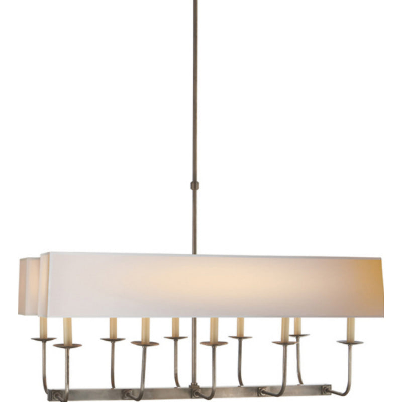 Visual Comfort SL 5863AN-NP2 Chapman & Myers Linear Branched Chandelier in Antique Nickel