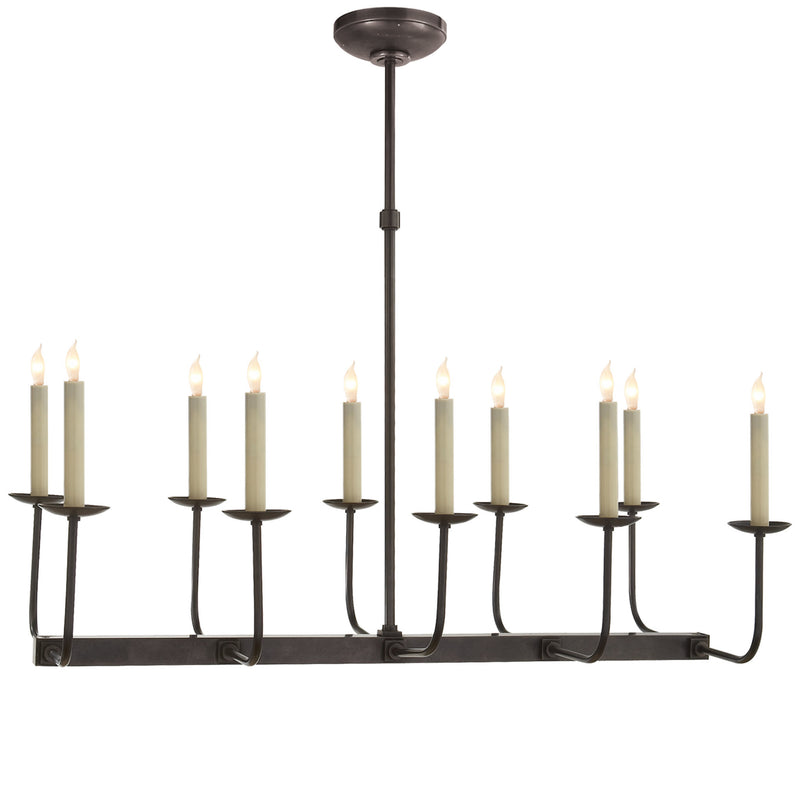 Visual Comfort SL 5863BZ Chapman & Myers Linear Branched Chandelier in Bronze
