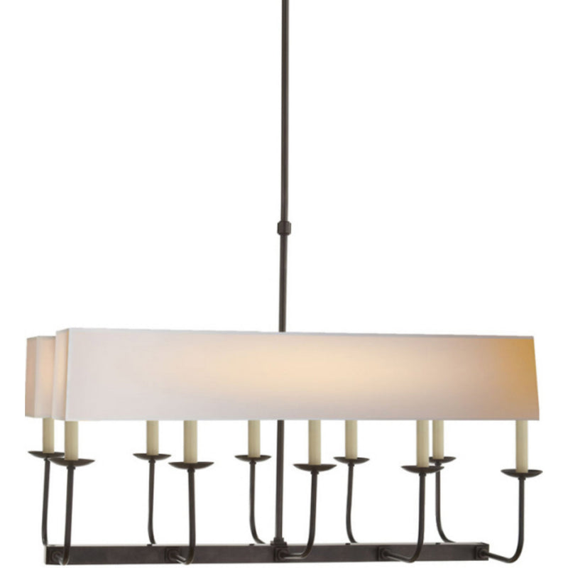 Visual Comfort SL 5863BZ-NP2 Chapman & Myers Linear Branched Chandelier in Bronze
