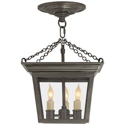 Visual Comfort SL 5870BZ Chapman & Myers Cornice Semi-Flush Lantern in Bronze