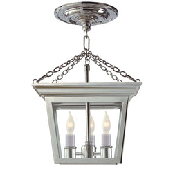Visual Comfort SL 5870PN Chapman & Myers Cornice Semi-Flush Lantern in Polished Nickel
