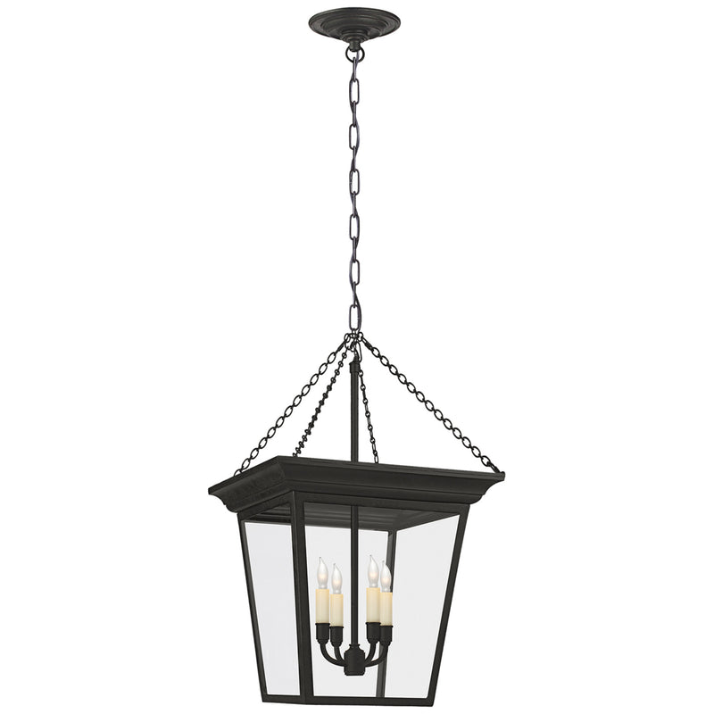 Visual Comfort SL 5871BR Chapman & Myers Cornice Small Lantern in Blackened Rust
