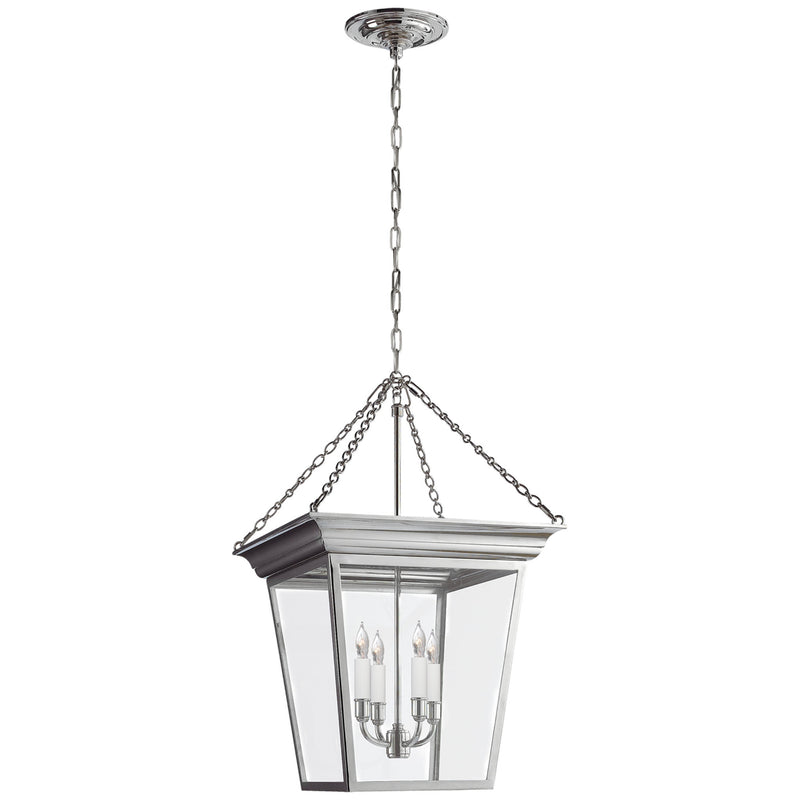 Visual Comfort SL 5871PN Chapman & Myers Cornice Small Lantern in Polished Nickel