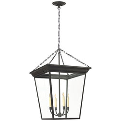 Visual Comfort SL 5872BR Chapman & Myers Cornice Large Lantern in Blackened Rust