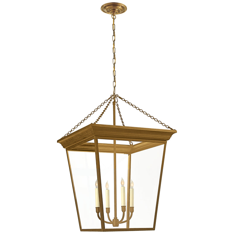 Visual Comfort SL 5872HAB Chapman & Myers Cornice Large Lantern in Hand-Rubbed Antique Brass