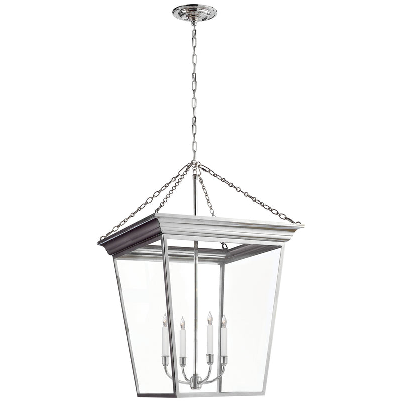 Visual Comfort SL 5872PN Chapman & Myers Cornice Large Lantern in Polished Nickel