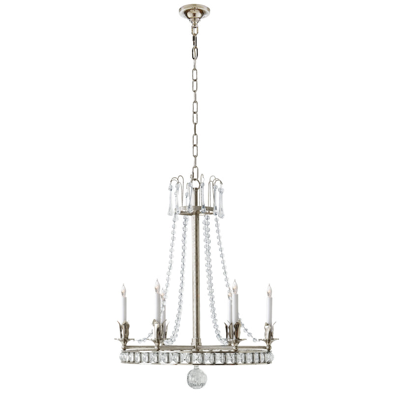 Visual Comfort SN 5107PN Joe Nye Regency Medium Chandelier in Polished Nickel