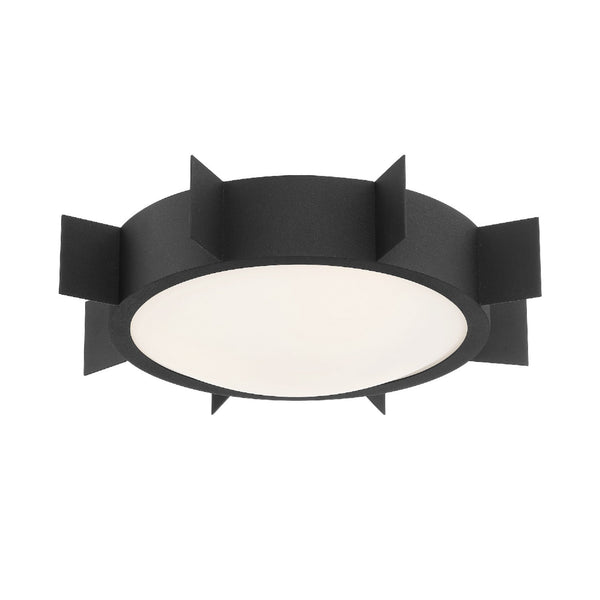 Crystorama SOL-A3103-BF Solas Ceiling Mount in Black Forged