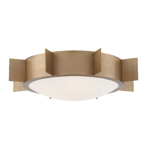 Crystorama SOL-A3103-VG Solas Ceiling Mount in Vibrant Gold