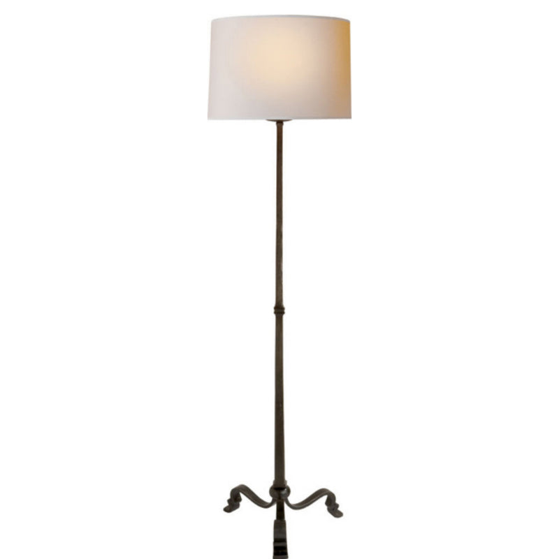 Visual Comfort SP 1003AI-NP J. Randall Powers Wells Floor Lamp in Aged Iron