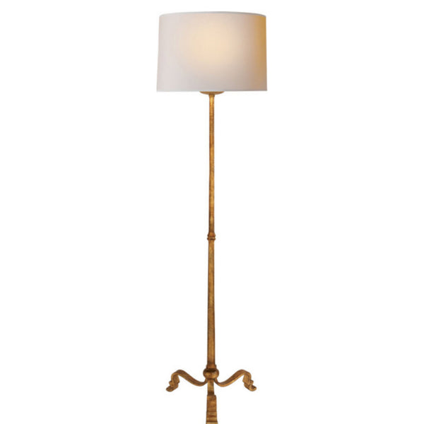 Visual Comfort SP 1003GI-NP J. Randall Powers Wells Floor Lamp in Gilded Iron